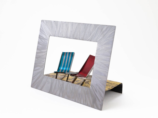 Kerry Whittle, Framed Scene with Two Deckchairs