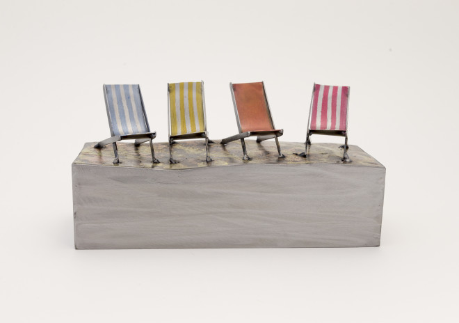 Four Chairs on Block
