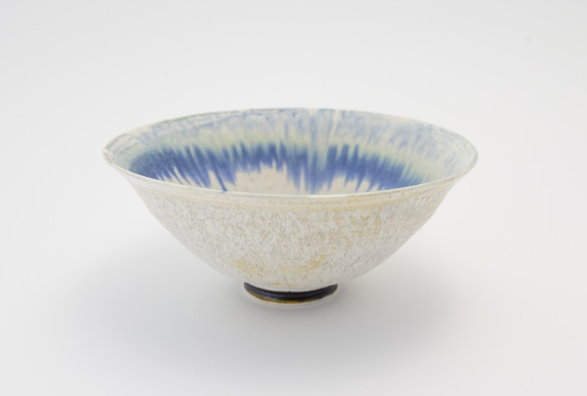 Crackled Blue Glaze Bowl