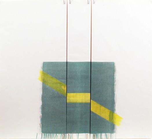 Richard Smith, Two of a Kind IIa (yellow line on green, straight), 1978