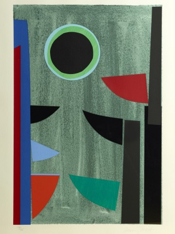 Terry Frost, Green and Black Q, 1997