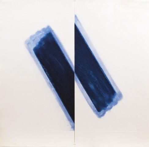 Richard Smith, Large Blue, 1977