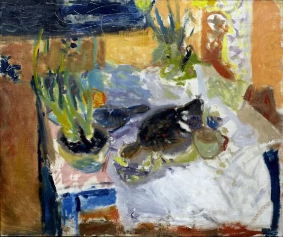 Night, Still Life with Hyacinths, Plaice and Lemon