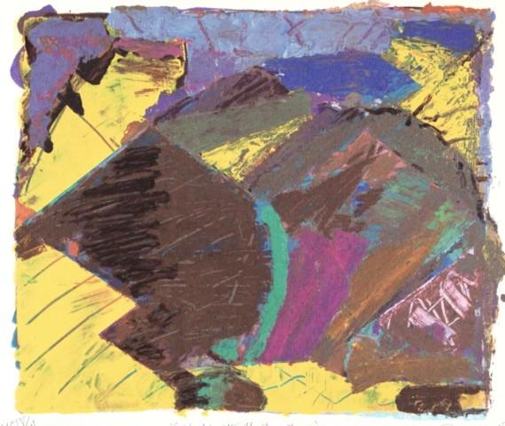 Barry Martin  'Golden Glows the New Found Day'  1991  screenprint, 45cm x 61cm  £250.00
