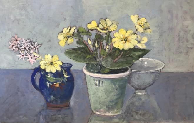 Muriel Mallows  Primroses in Jug