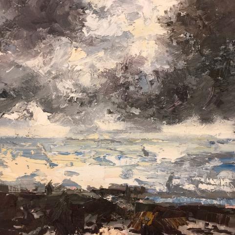 Paul Treasure, Salt and Pewter Sky, 2018