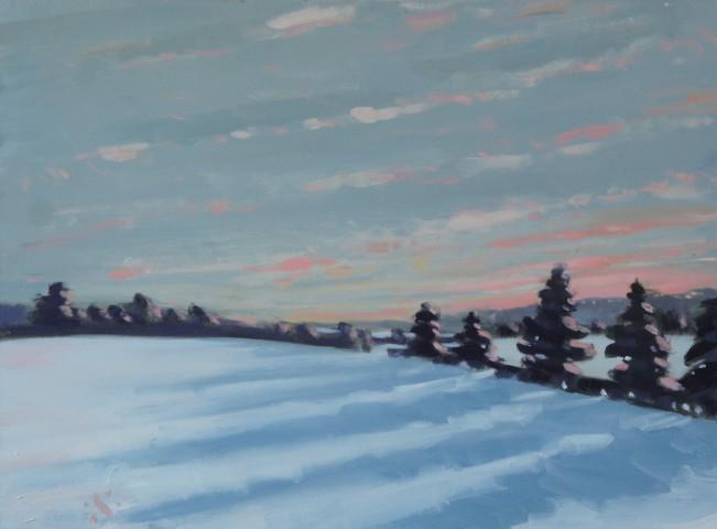 Sam Travers, Snowy Sunset, 2019
