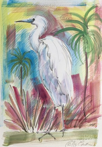 Camilla Gardener, White Heron, 2018