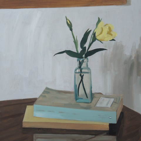 Sam Travers, Yellow Roses on Books, 2018