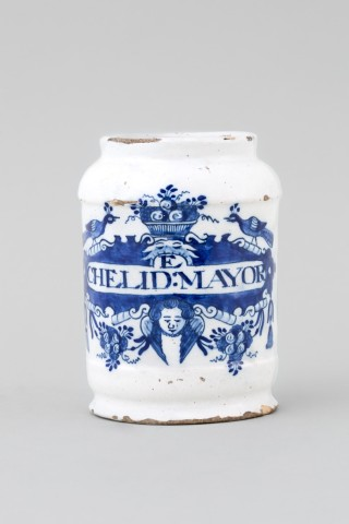 A DUTCH BLUE & WHITE DELFT APOTHECARY JAR , 18th century
