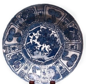 A LARGE CHINESE KRAAK DISH, Wanli (1573-1619)