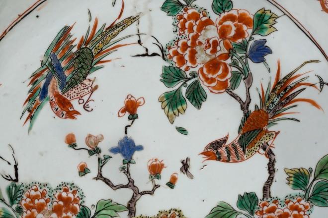 A FAMILLE VERTE PIECRUST DISH , Kangxi (1662 1722)