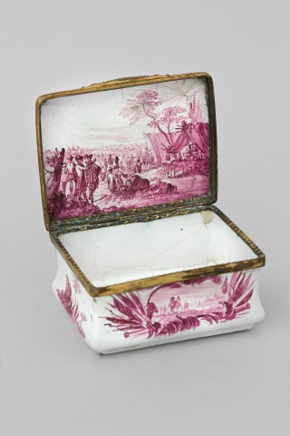 CONTINENTAL ENAMEL BOX, 18th century