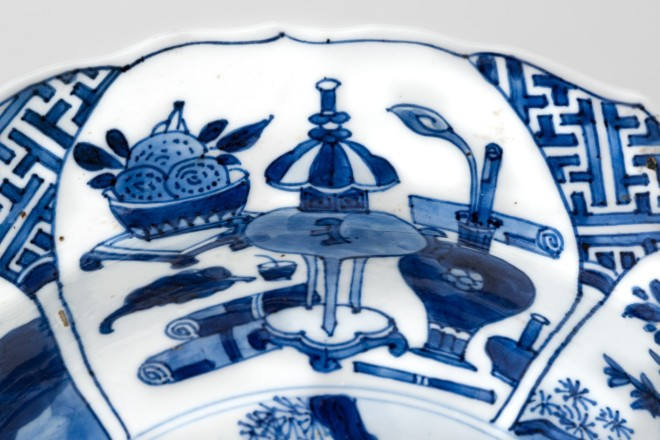 A CHINESE KANGXI BLUE AND WHITE BASIN, Kangxi (1662 – 1722)