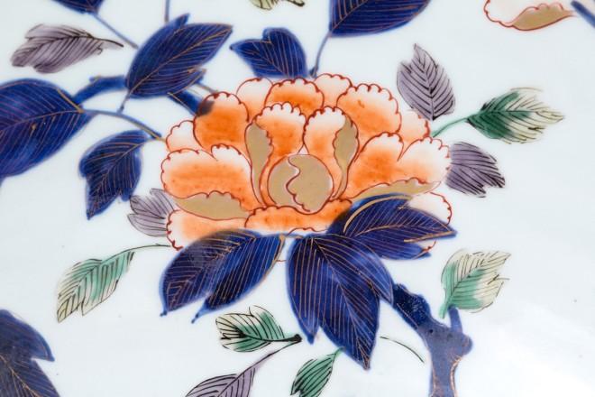 A LARGE CHINESE IMARI PUNCH BOWL, 18th Century