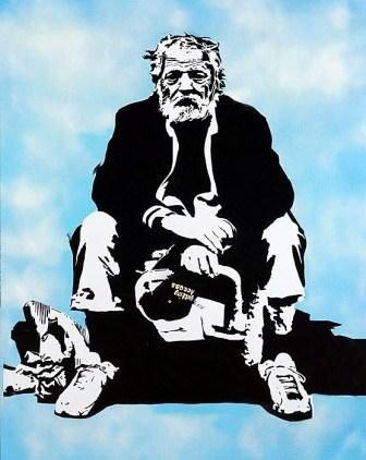 Blek le Rat, Les Miserable, 1979, 156 x 116cm Acrylic on canvas