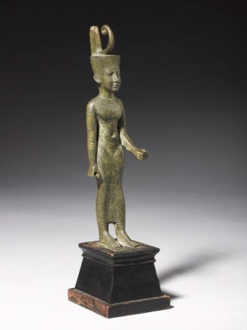 Egyptian statuette of the goddess Neith  Late Dynastic Period, 664-30 BC  Bronze  Height 16.5cm