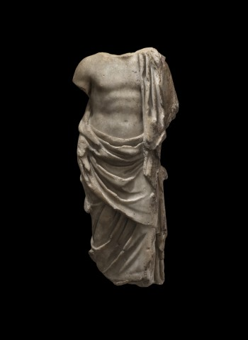 Roman marble draped Asclepius, 2nd century AD
