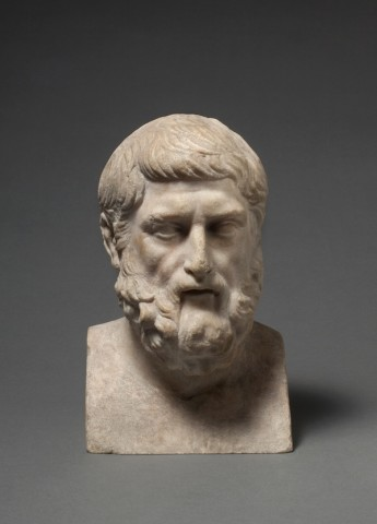Roman marble bust of Hermarchus, 2nd century AD
