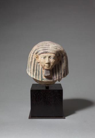 Egyptian terracotta canopic jar lid, New Kingdom, 18th Dynasty, c.1550-1295 BC