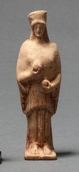 Greek terracotta  statuette of Demeter