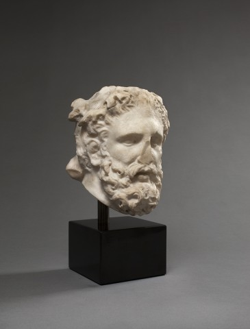 A Roman marble head of Herakles