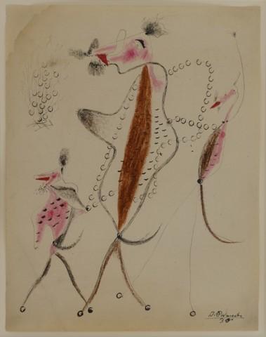 Benjamin Palencia, Tres Figures Surrealistas, 1930