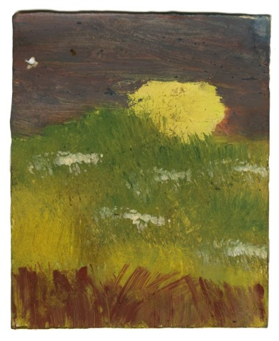 Frank Walter, Landscape Series: Sun with Flowers and Orange Sky