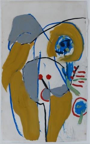 Roger Hilton, Nude, 1974