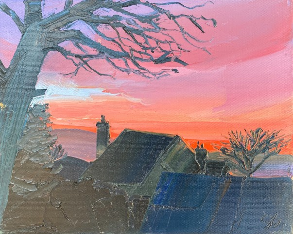 Sarah Carvell, Pear Tree, Red Skies
