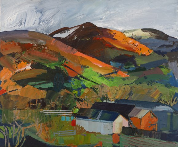 Sarah Carvell, Farm in the Valley, Autumn Light