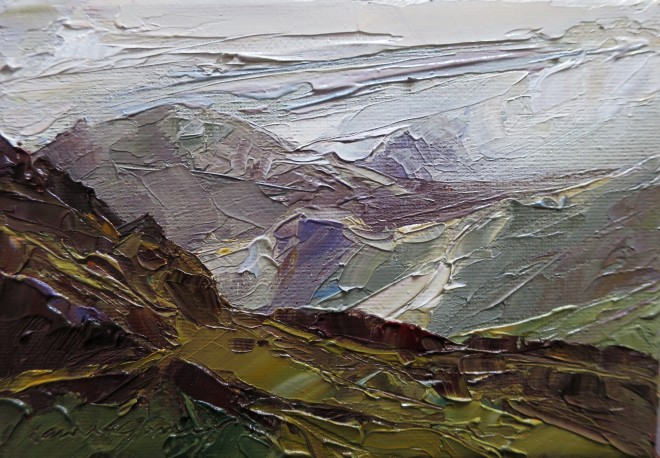 David Grosvenor, A Glimpse of Tryfan from the Crimea