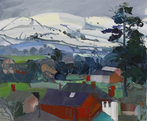 Sarah Carvell, Winter. Homes beneath the Clwydians