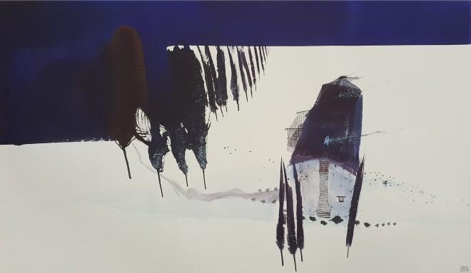 Dewi Tudur, Edrych Lawr (Eira) / Looking Down (Snow)
