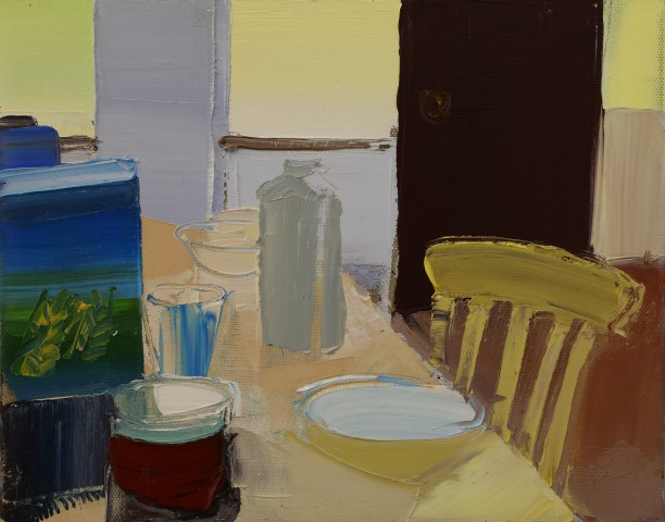 Sarah Carvell, Yellow Chair, Bottle of Water