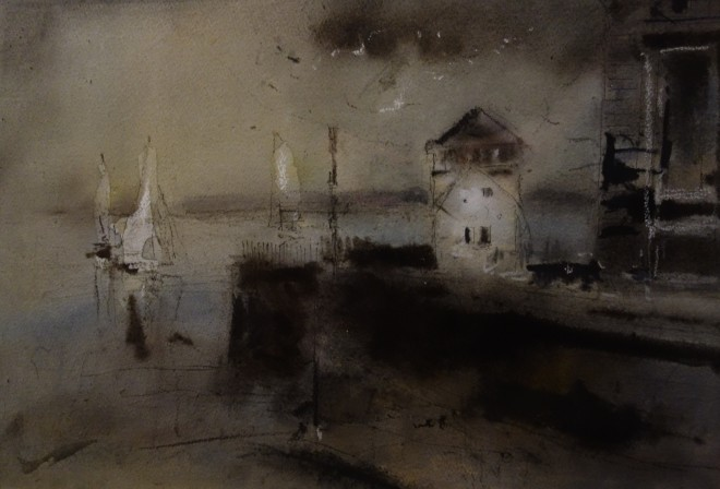 William Selwyn, Yachts at a Harbour Entrance