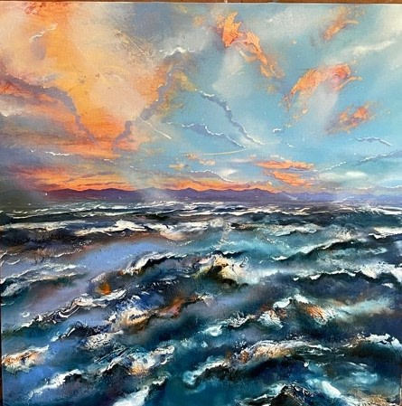 Iwan Gwyn Parry, The Irish Sea Coastline at Sunset