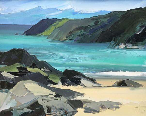 Sarah Carvell, Calm Sea, Kinnagoe Bay