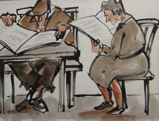 Mike Jones, Figures, Reading Room