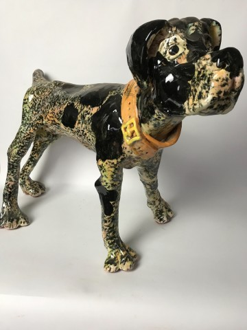 Willie Carter, Dog with Orange Collar