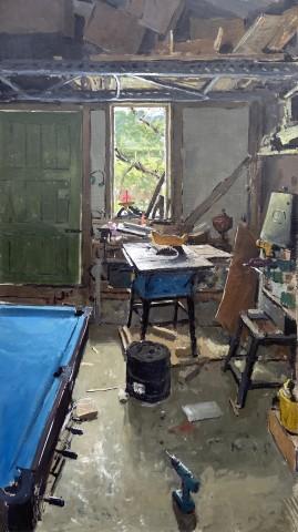 Matthew Wood, Workshop with Saw