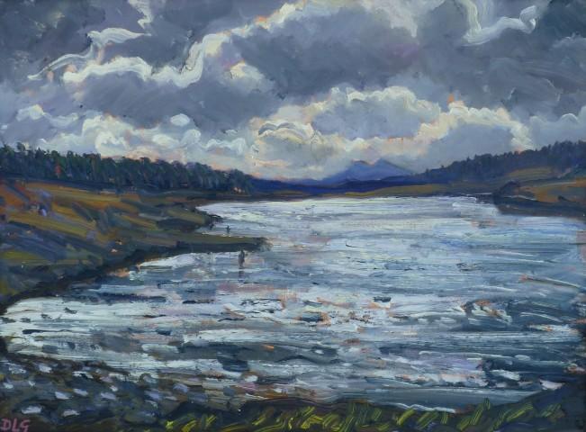 David Lloyd Griffith, A Still September Day - Llyn Brenig
