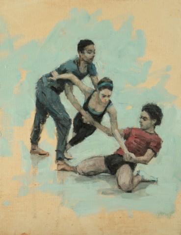 Carl Chapple, Miles Carrott, Natalie Debono and Miguel Fernandes (Ballet Cymru Rehearsal 58)