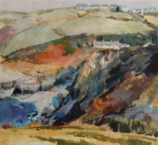 Anne Aspinall, Trefin from the Coastal Path