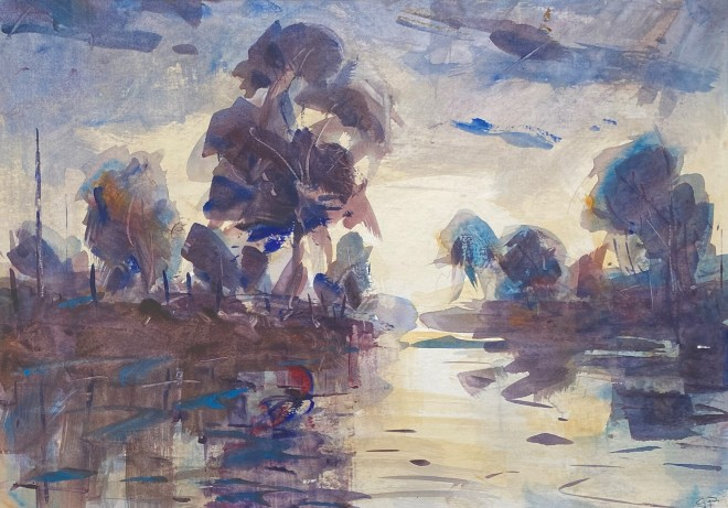Gareth Parry, Bore Cynnar ar y Afon / Early Morning on the River
