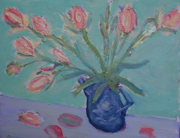 David Lloyd Griffith, Pink Salmon Tulips
