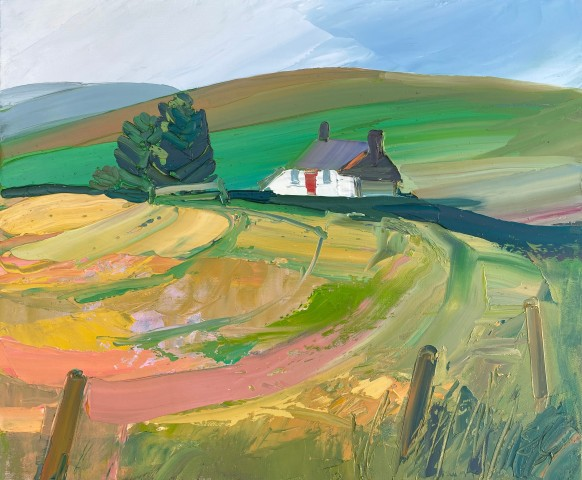 Sarah Carvell, View of Tyrpeg Mynydd from across the Field