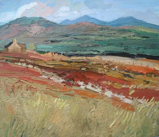 Sarah Carvell, Bwthyn ar Llwybr yr Arfordir / Cottage on the Coastal Path