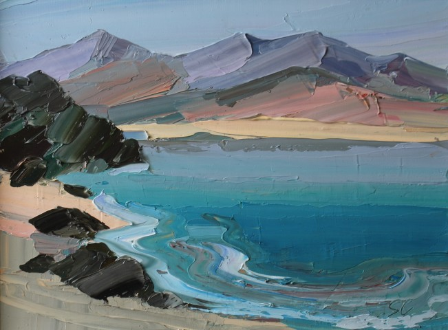 Sarah Carvell, View from Borth y Gest