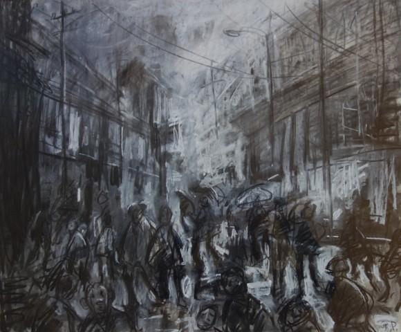 Gareth Parry, Stryd Wlyb! / Street in the Rain!